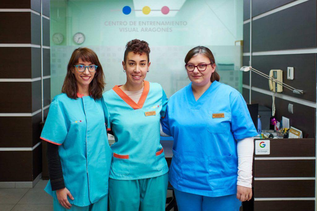 trabajadores de terapia visual Zaragoza